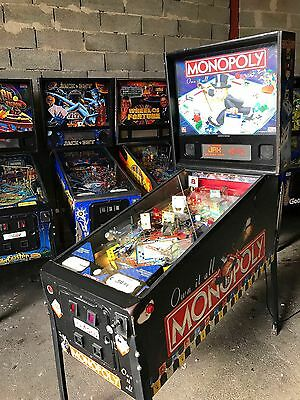 Pinball STERN Monopoly 2001- Only 3640 Produced - Flipper Good Working Condition