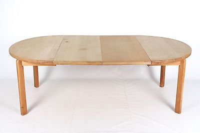 """Retro Vintage Oak Dining Table DANISH 7'2"""" 8 Seater Long Boardroom Conference Ta"""