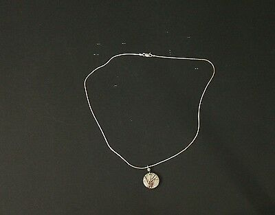 Sterling Silver Necklace W/Pendant 5.5gr   925  Silver