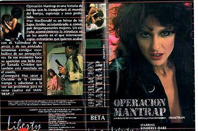 OPERACIÓN MAN TRAP (1986) / KRISTA LANE BARBARA DARE CARA LOTT Beta + DVDR