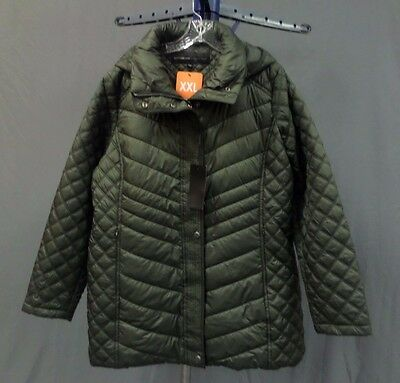 NWT Women's Marc New York Puffer Coat / Jacket Color: Olive Green Size: XXLarge