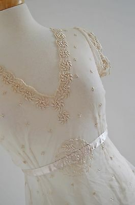 LAURA ASHLEY lace OVER BLOUSE jacket sheer WEDDING cream EDWARDIAN bridal 8 10