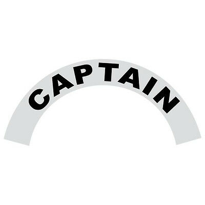 Captain Black Helmet Crescent Reflective Decal Sticker