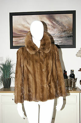 Beautiful Vintage 1950's Mink Fur Jacket With Silky Handsewn Lining Large