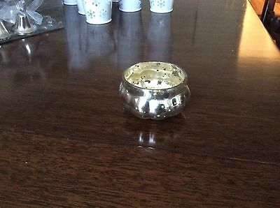 50 Silver Mercury Glass Pumpkin Tea Light Holders