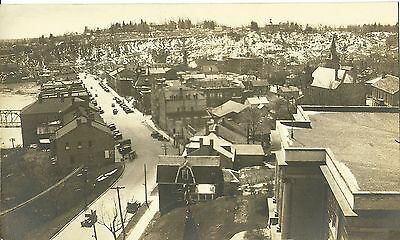 Vintage Old Postcard Unused Photograph Aerial B&w Canada Downtown? Montreal?