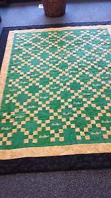 Crown Royal Apple quilt 41green bags 60x75