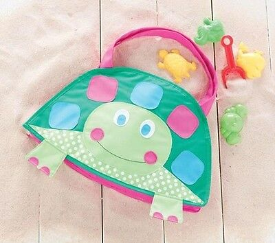 Mud Pie Childrens Turtle Beach Bag complete with Toys  NEW
