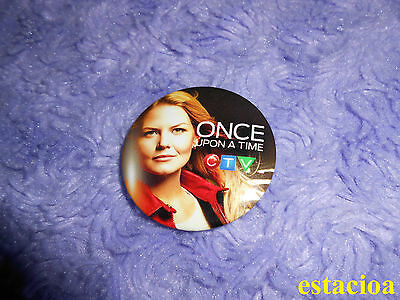 Once Upon a Time Promotional Button / Pin, Jennifer Morrison Emma Swan Fan Expo
