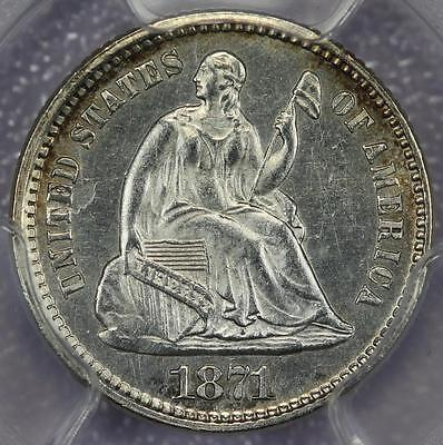 1871 Seated Liberty Half Dime PCGS MS62 - Gorgeous Type Coin-*DoubleJCoins* - R2