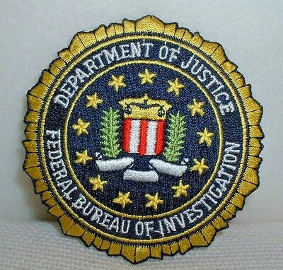 Dept Of Justice Federal Bureau Of Investigation Embroidered Patch - New & Unused
