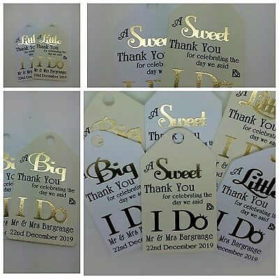 Personalised Wedding Gift/Favour Vintage Luggage Tags/Labels -Thank You TG81-83