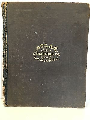 State of New Hampshire Atlas First Edition 1871 Strafford County RARE ORIGINAL