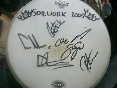 Soilwork - Rare Autographed Drumhead X 6