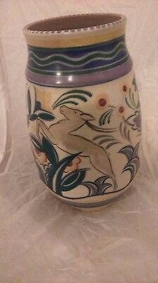 Poole Pottery 1930s TrudaCarter Leaping Stag TZ Pattern buy it now or best offer