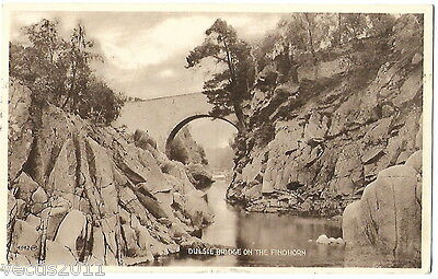 Dulsie Bridge on the Findhorn, Nairnshire, Scotland vintage Postcard - 1957