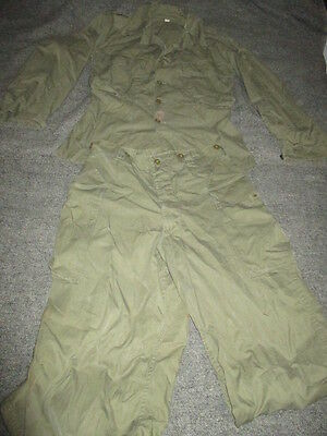 Wwii Experimental Us Army Jungle Uniform Rare Shirt And Trousers Set