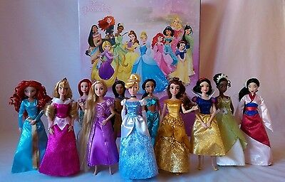 New Disney Princess Deluxe Doll Gift Set of 11 Princesses