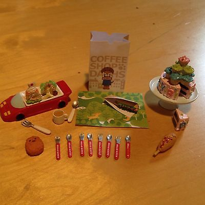 Re-Ment Family Kids Birthday Lot Dollhouse Cake Restaurant Cutlery