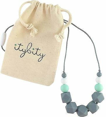 Baby Teething Necklace for Mom, Silicone Teething Necklace, 100% BPA Free
