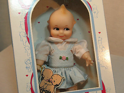 Vintage Jesco Cameo Kewpie Doll Girl in Original Unopened Box NOS Blue Dress