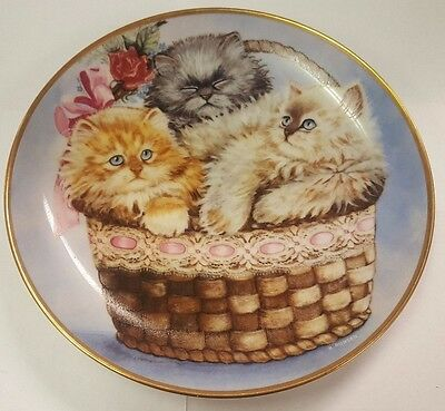 Franklin Mint Collectors Cat Plate ~ Three Little Kittens By K. Duncan
