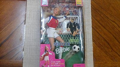 Soccer Barbie Poseable Doll 1999 FIFA Women World Cup Soccer Star Mia Hamm NEW