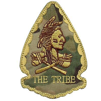 US navy seals THE TRIBE red team squadron olive drab green OD hook patch