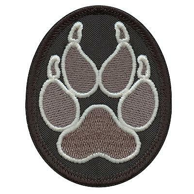 K-9 handler K9 police dogs of war paw subdued ACU sew iron on patch