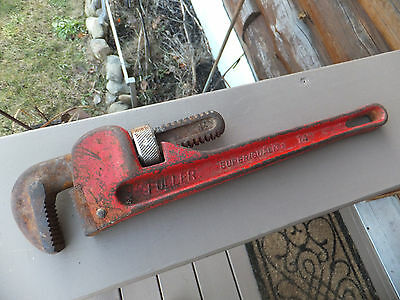 "Fuller Super Quality 14"" Adjustable Pipe Wrench JAPAN"
