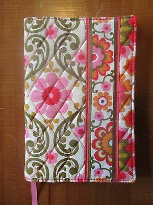Vera Bradley Small Paperback Book Cover With Attached Ribbon Euc Folkloric