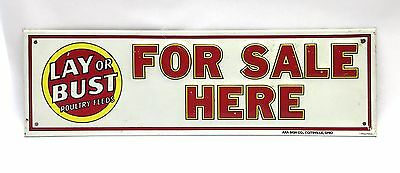Lay Or Bust Poultry Feeds For Sale Here Sign Coitsville Ohio AAA SIgn Co. Repro