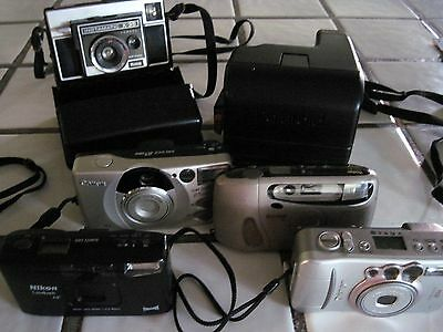 Lot of (6) Cameras, 35mm,Instamatic,MORE
