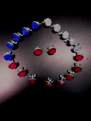 20-Mini Reflectors Red,white&blue For License Plates,bikes,motorcycles,etc. New