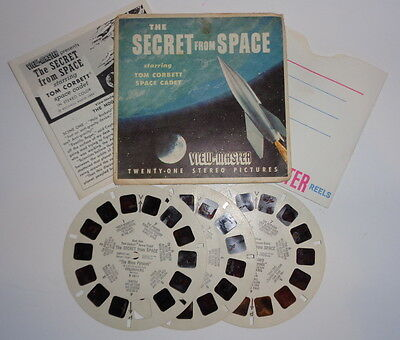 Vintage 1962 The Secret From Space, View Master reel Tom Corbett space cadet