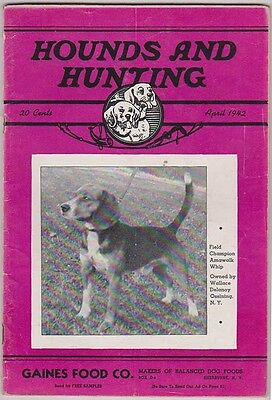 HOUNDS AND HUNTING Magazine April 1942, Beagles & Beagling H&H