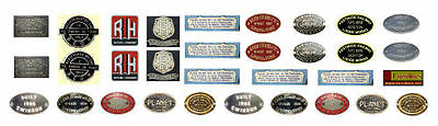 16mm SM32 or G scale garden railway LOCO MAKERS BADGES decals