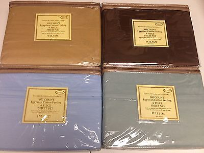 Lot Of 4 Full Size Egyptian Cotton Feeling 800 Thread Count 6 Pcs Sheet Sets New