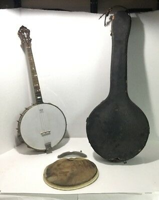 Antique 1927 Triple X Remo Weather King 4 String Banjo With Case -Vg Condition