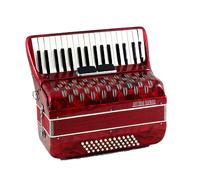 TOP ACCORDION Vintage Settimio Soprani - 48 bass,2 sw.-=Made in Italy=-Akkordeon