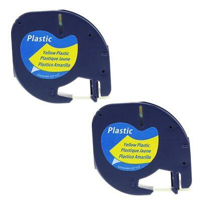 2pk Letra Tag 91332 91202 Compatible for DYMO 12mm Label Tape Cassette Cartridge