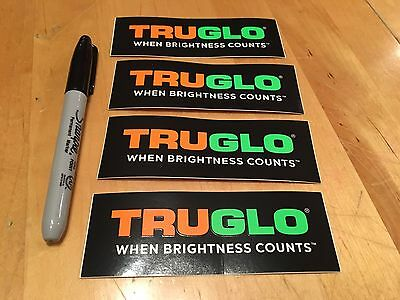 4 Truglo Stickers/Decals Tactical Gun Militia Hunting Weaponry Swat Ammo Arms