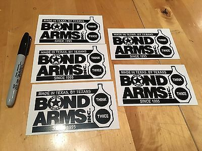 5 Bond Arms Stickers/Decals Tactical Gun Militia Hunting Weaponry Swat Ammo