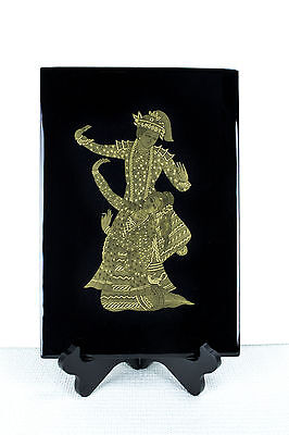 Myanmar Gold Lacquer Painting Art Gift Oriental Antique Handicraft Home Decor