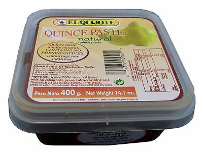 EL QUIJOTE Natural Quince Paste/Jam 400g from Spain, no preservatives or colours