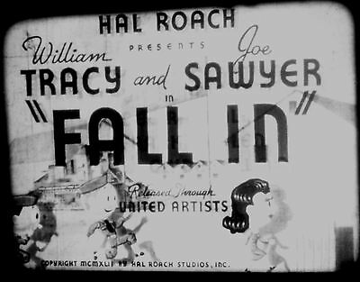 16Mm Streamliner Feature, Hal Roach  Fall In  1942
