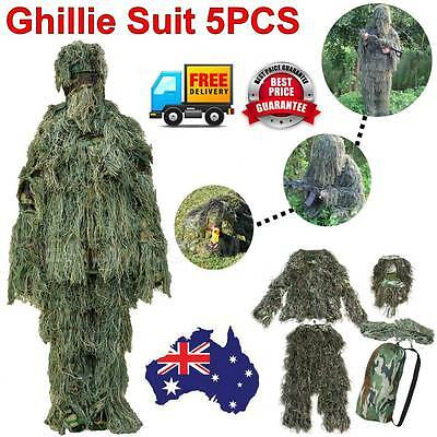 CSAIRMALL Ghillie Suit Archery Sniper Hunting Sniper Woodland Camouflage Clothes