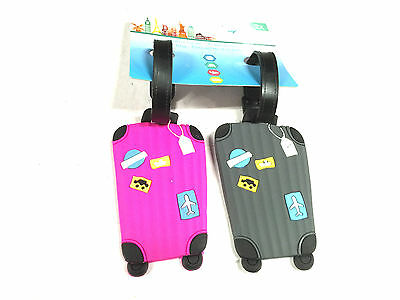 2pc Travel Luggage Baggage Tag Suitcase Identity Address Name Labels-Brand New