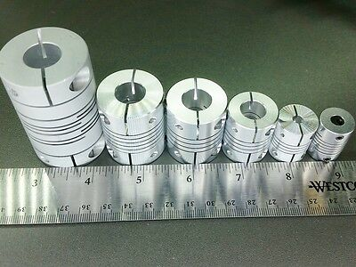 "1/2"" x 1/2"" Flexible Ballscrew Motor Shaft Clamp Coupler Coupling Linear Motion"