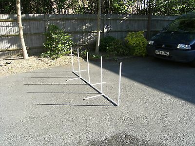 Dog agility training equipment weave poles made to K.C regs